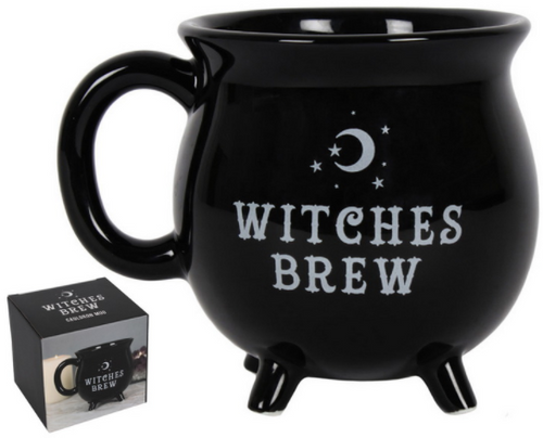 Witches Brew Black Ceramic Cauldron Mug