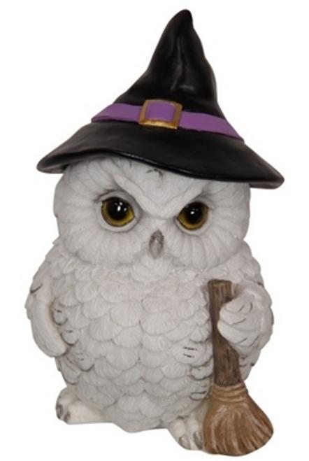 Owl Witch Figurine 17cm White