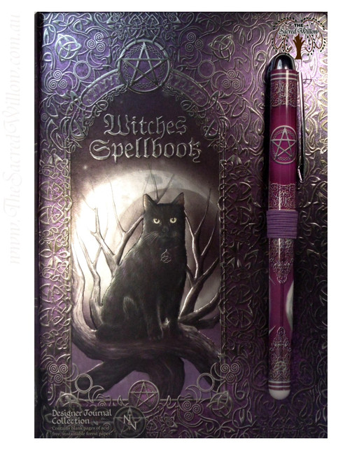 Witches Spell Book / Journal with Pen 15x20cm Luna Lakota