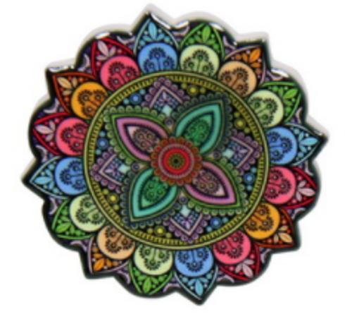 Ceramic Mandala Magnet 6cm