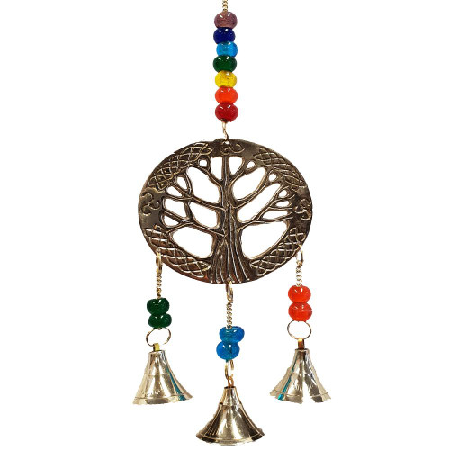 Tree of Life Brass Wind Chime 29cm