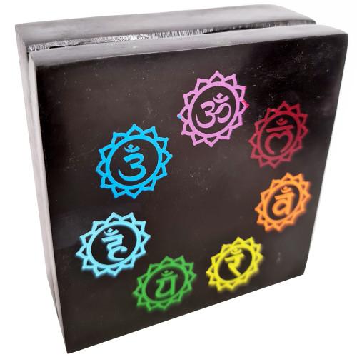 Trinket Box Soapstone Chakra 10cm