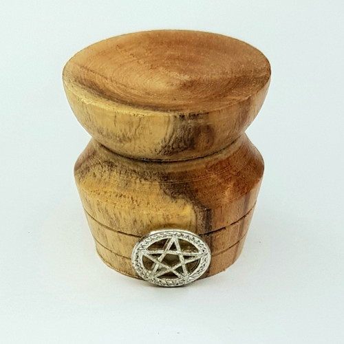 Wooden Pentacle Crystal Ball Stand 3cm 3
