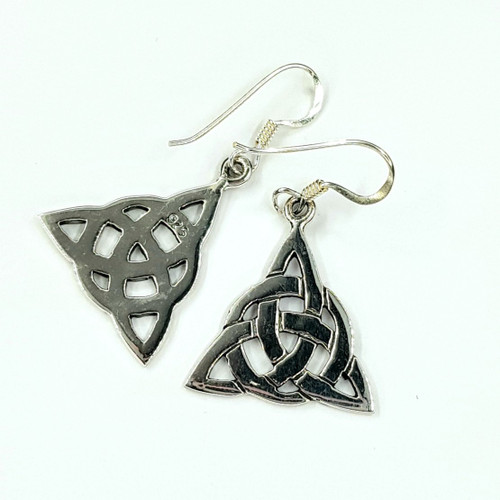 Sterling Silver Hook Earrings Triquetra