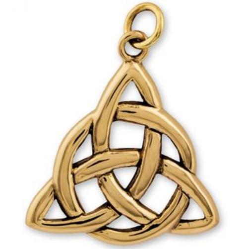 Solid Bronze Pendant Triquetra 3cm