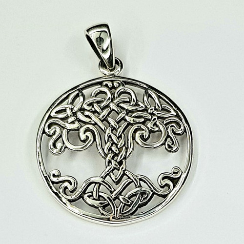 Sterling Silver 925 Pendant Tree of Life Celtic 2.5cm