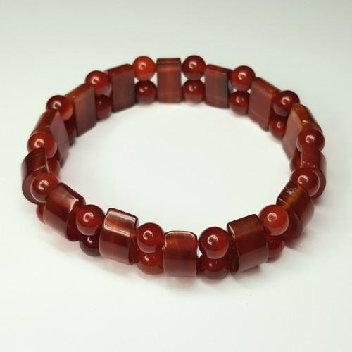 Carnelian Combination Gemstone Stretch Bracelet