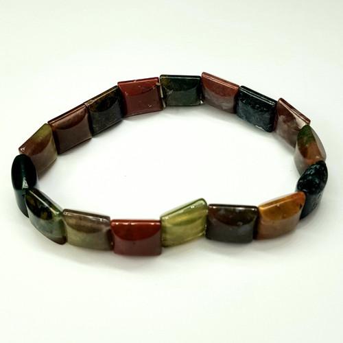 Jasper Agate Combination Gemstone Stretch Bracelet