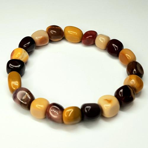 Mookaite Gemstone Small Nugget Stretch Bracelet