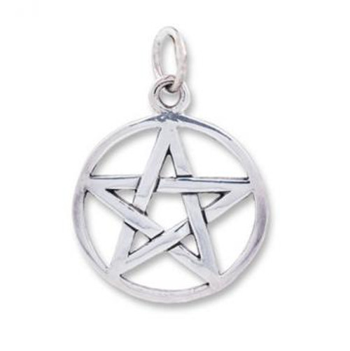 Sterling Silver 925 Pendant Pentacle 2cm