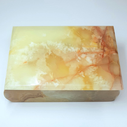 Green Marbled Onyx Jewellery Box 15cm x 10cm