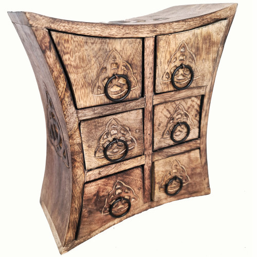 Wooden Chest of Drawers Triquetra 23cm