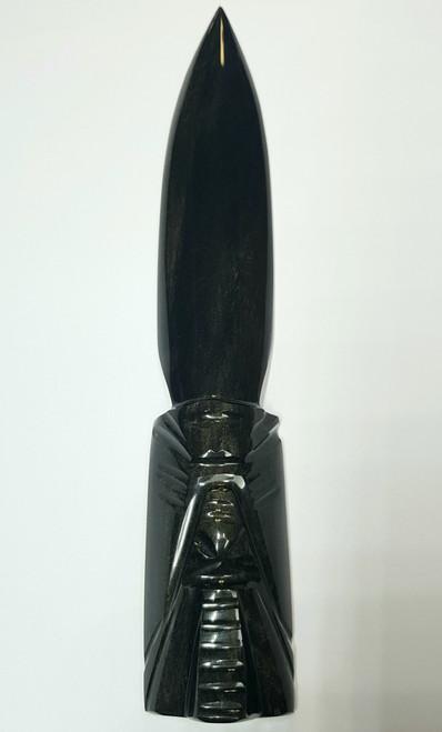 Golden Sheen Obsidian Ritual Dagger Athame/Energy Cord Cutting Tool 19cm