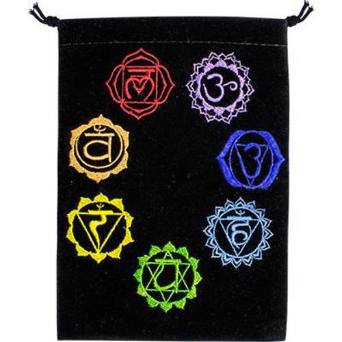 Chakra Velveteen Drawstring Tarot Bag 18cm