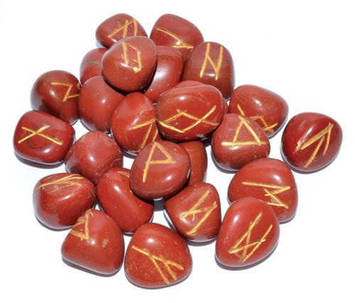 Red Jasper Gemstone Rune Set