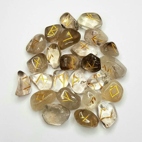 Citrine Natural Gemstone Rune Set