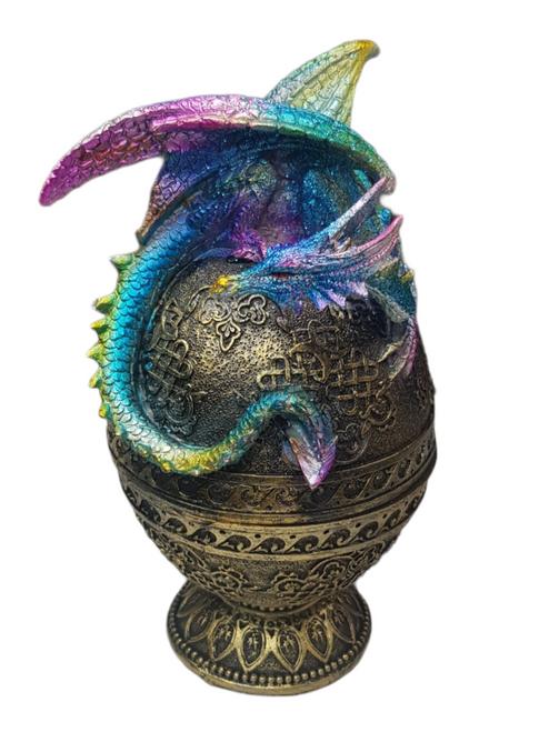 Dragon Golden Egg Jewellery Box - 20cm