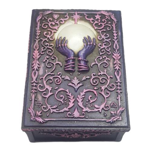 Fortune Teller Jewellery / Tarot Card Box Resin 13.5cm