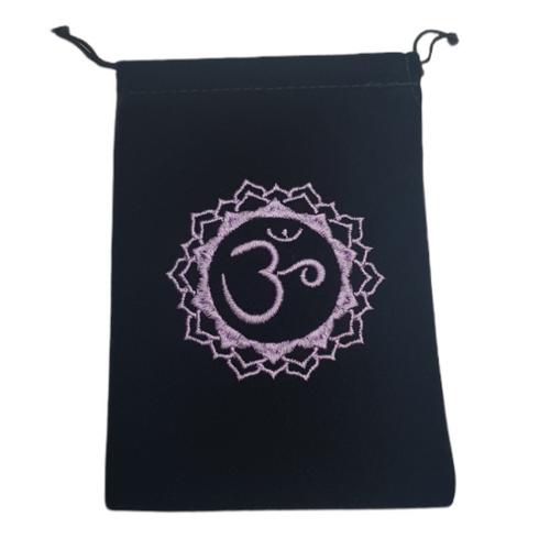Chakra Velveteen Drawstring Tarot Bag Crown Violet 18cm