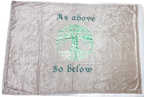 As Above So Below Velvet Altar Cloth Handmade 95cm x 60cm