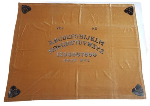 Ouija Board Caramel Velvet Altar Cloth Handmade 78cm x 65cm