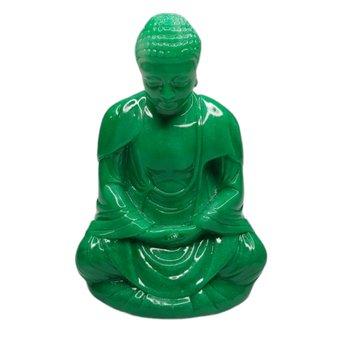 Buddha Jade-Look Green Resin Statue ~ 10cm