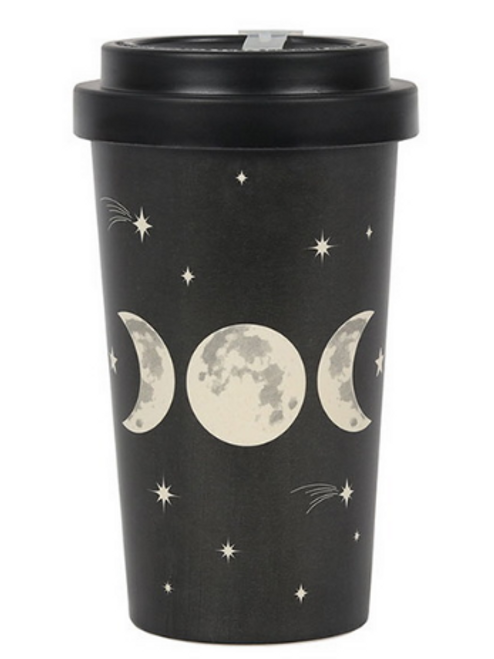 Triple Moon Bamboo Travel Mug 14cm
