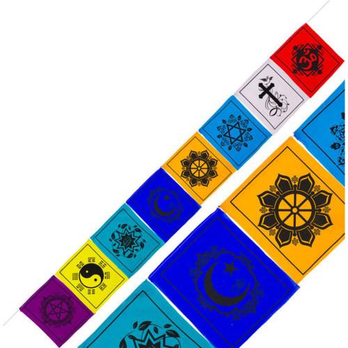 Multifaith Cotton Prayer Flags Large 21cm x 24cm