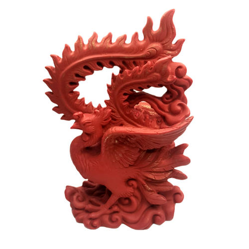 Red Phoenix of the South Resin Statue ~ 16cm