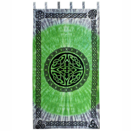 """Curtain (1) Celtic Shield Knot Tie Dyed 44"""" x 88"""" 100% Cotton"""