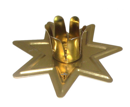 Golden Fairy Seven Pointed Star Chime Candle Holder