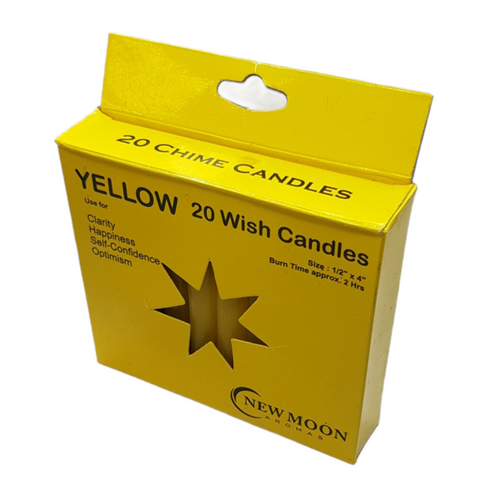 Chime Wish Candle Yellow Bulk Buy SECONDS 20 Pack