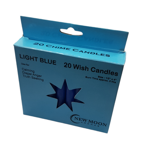 Chime Wish Candle Light Blue Bulk Buy SECONDS 20 Pack