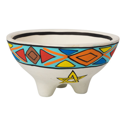 Clay Smudge / Offering Bowl Pentagram 13.5cm x 7cm
