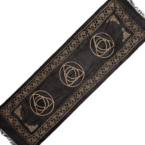 Altar or Tarot Cloth Triple Triquetra Sarong 180cm Long