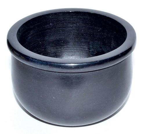 Black Stone Scrying Bowl 7.5cm x 5cm