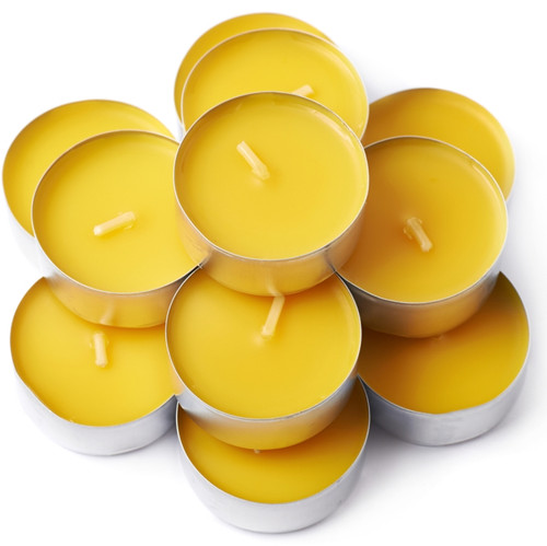 50 Pack Beeswax Tealight Candles