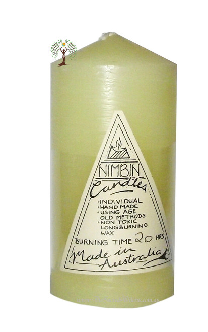 Cream Hand Made Church Pillar Candle