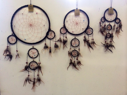 Brown Suede with Crystals Dream Catcher Large