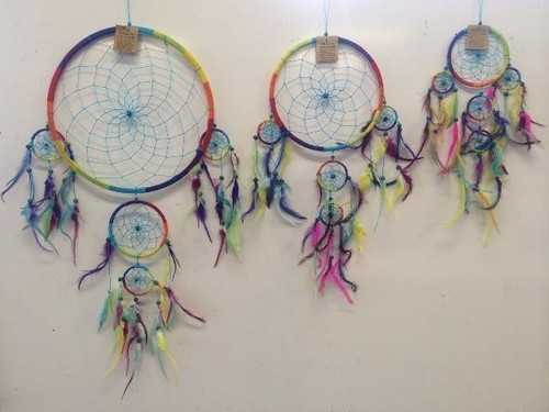 Rainbow Coloured Dream Catcher Large