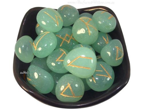 Aquamarine Gemstone Rune Set