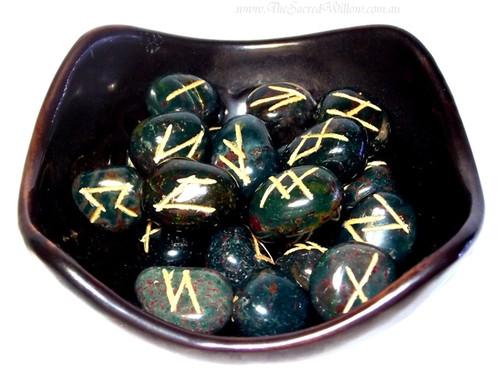 Bloodstone Crystal Runes Set
