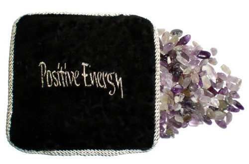 Amethyst Energetic Pillow - Crystal Filled Pillow
