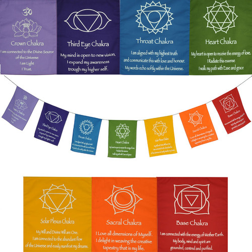 Large Chakra Prayer Flag