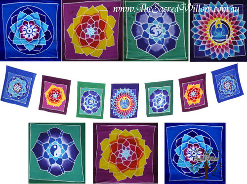 XLARGE Hand Painted Mandala Flags