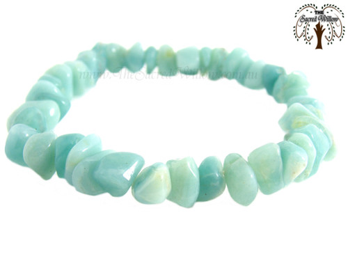 Amazonite Gemstone Chip Stretch Bracelet