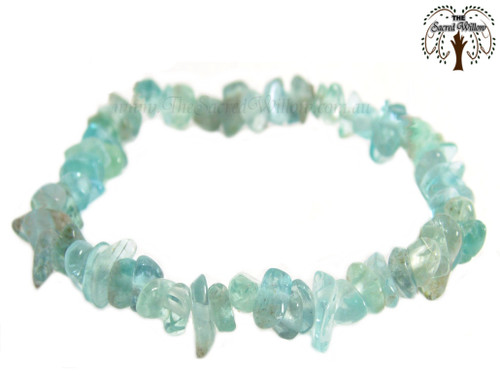 Apatite (Translucent) Gemstone Chip Bracelet