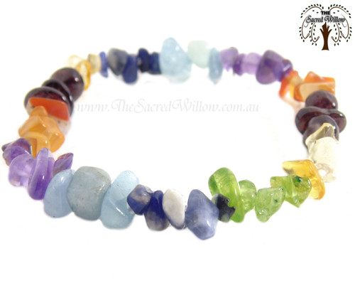Chakra Gemstone Chip Stretch Bracelet
