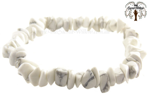 Howlite Gemstone Chip Stretch Bracelet