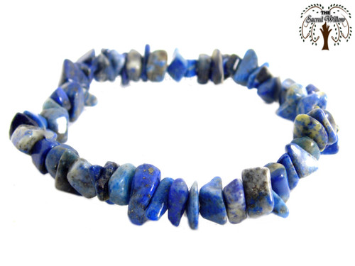 Lapis Lazuli Gemstone Chip Stretch Bracelet